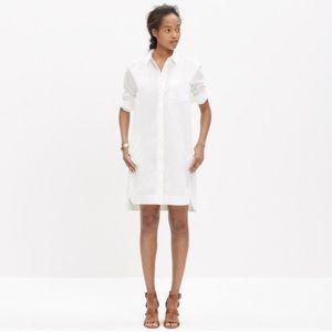 Madewell white shirt dress